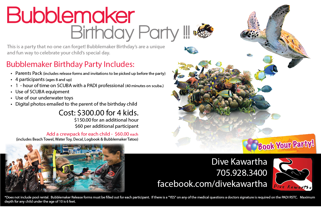 Bubblemaker Kids Birthday Party